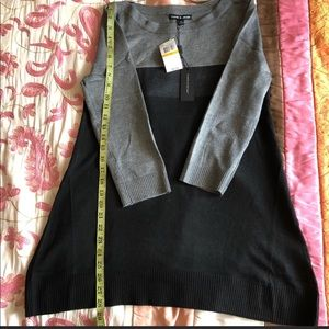 Knit top Black and Grey size S NWT elegant